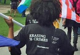 Pride Walk marcher. (Photo courtesy of Pride Walk)