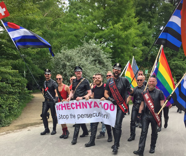 In 2017, many gay pride gatherings protested the brutal crackdown on Chechen gays.
