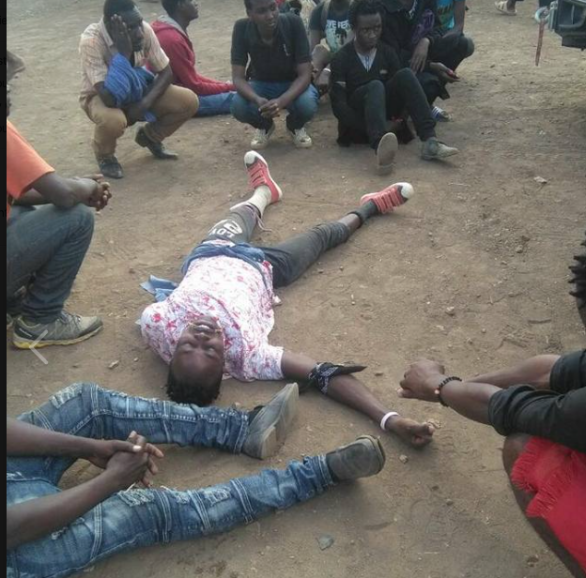 An LGBT refugee after a recent altercations with Kenyan authorities at the camp (Photo courtesy of O-blog-dee and Facebook)