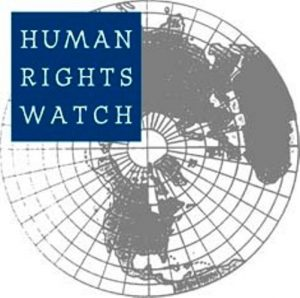 A logo of Human Rights Watch