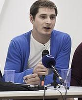 Maxim Lapunov addresses Moscow press conference (Photo courtesy of Novaya Gazeta)