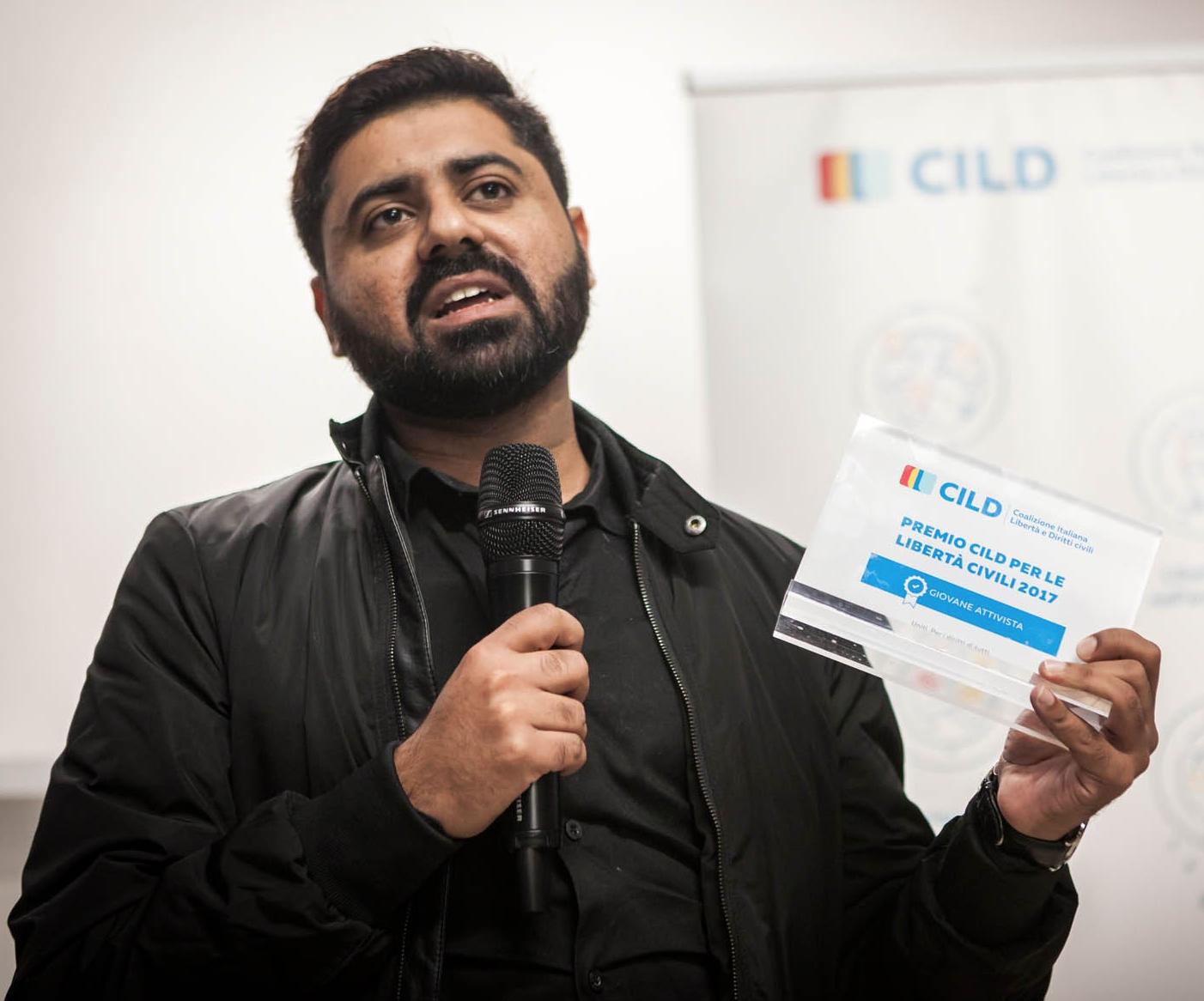 Wajahat Abbas Kazmi with notification of his award.
