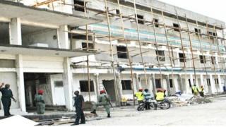 Construction at SEMIL barracks. (Photo courtesy of Jacks Oke)