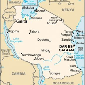 Tanzania map shows the location of Geita. (Map courtesy of Aliens and Strangers)