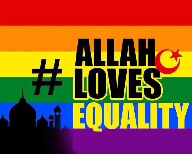 """Graphic promoting the """"Allah Loves Equality"""" campaign."""