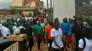 July 2017: Marchers demonstrate in Cameroon's capital city, Yaoundé, seeking an end to violence against human rights defenders.
