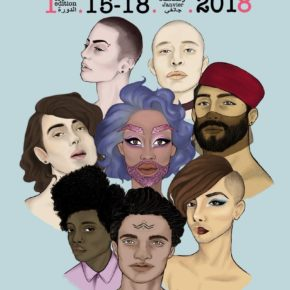 Poster for the Mawjoudin Queer Film Festival