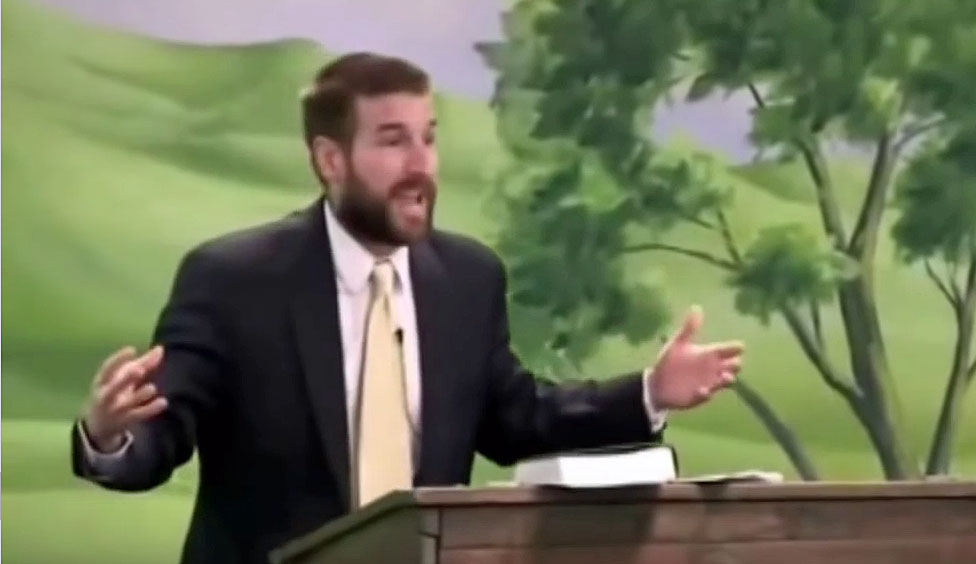 Pastor Steven Anderson on killing homosexuals. (Click the image to see the video.)