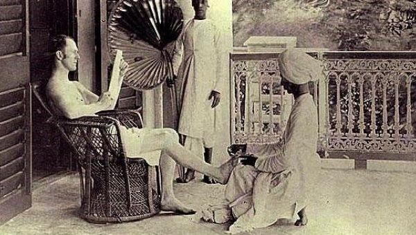 Scene from the British rule in India. (Photo courtesy of TeleSUR)