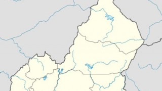 The location of Bertoua in Cameroon.