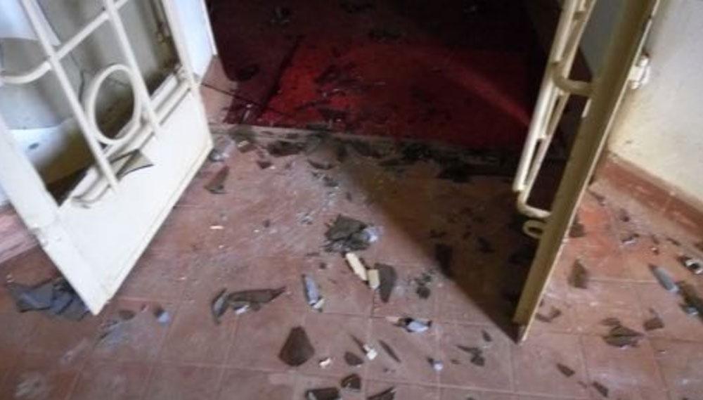 Back door was broken to allow  burglars to enter HRAPF offices. (Photo courtesy of HRAPF)