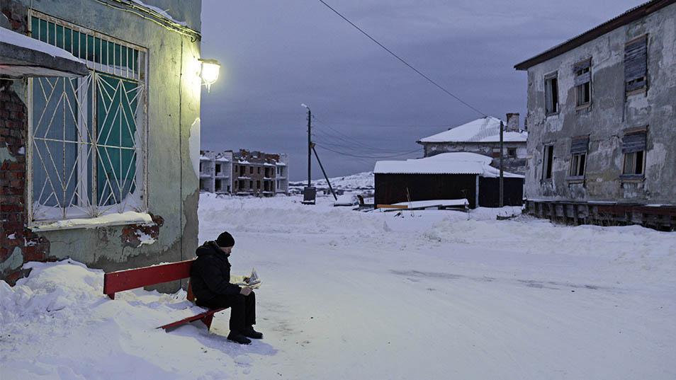 Teriberka scene (Sergei Yermokhin via TASS and The Moscow Times)