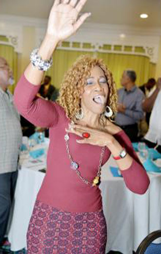 Worshipper at Jesus in the City organizational breakfast meeting at Knutsford Court Hotel in Kingston, Jamaica, on March 8. (Ian Allen photo courtesy of The Gleaner)