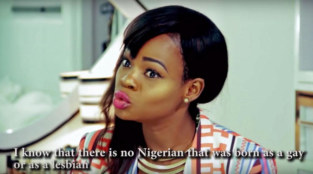 Orisaguna denies that Nigerians are born gay or lesbian. (Photo courtesy of YouTube)