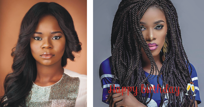 """Former bread-seller"" model Olajumoke Orisaguna (left) and trans model Veso Golden Oke (right)"