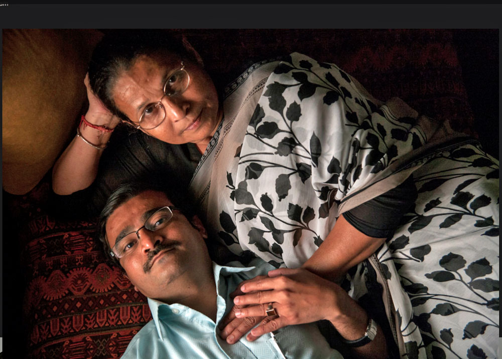Portrait of activist Arif Jafar and his mother, Anis Fatima (Photo courtesy of Flickr)