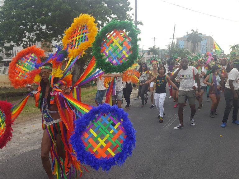 Guyana Pride march. (Photo courtesy of Demerara Waves)