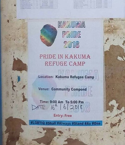 Poster advertises Kakuma Pride 2018. (Photo courtesy of Mbazira Moses)