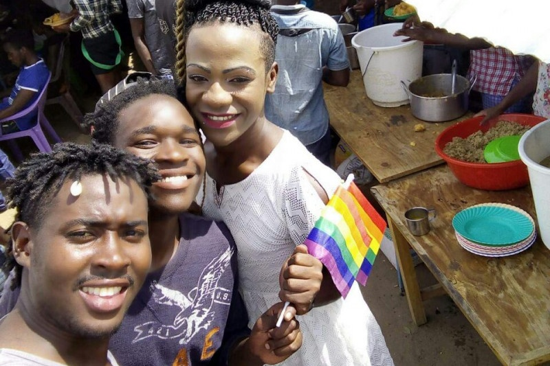Photo accompanying the GoFundMe appeal for contributions to Pride at Kakuma Camp.