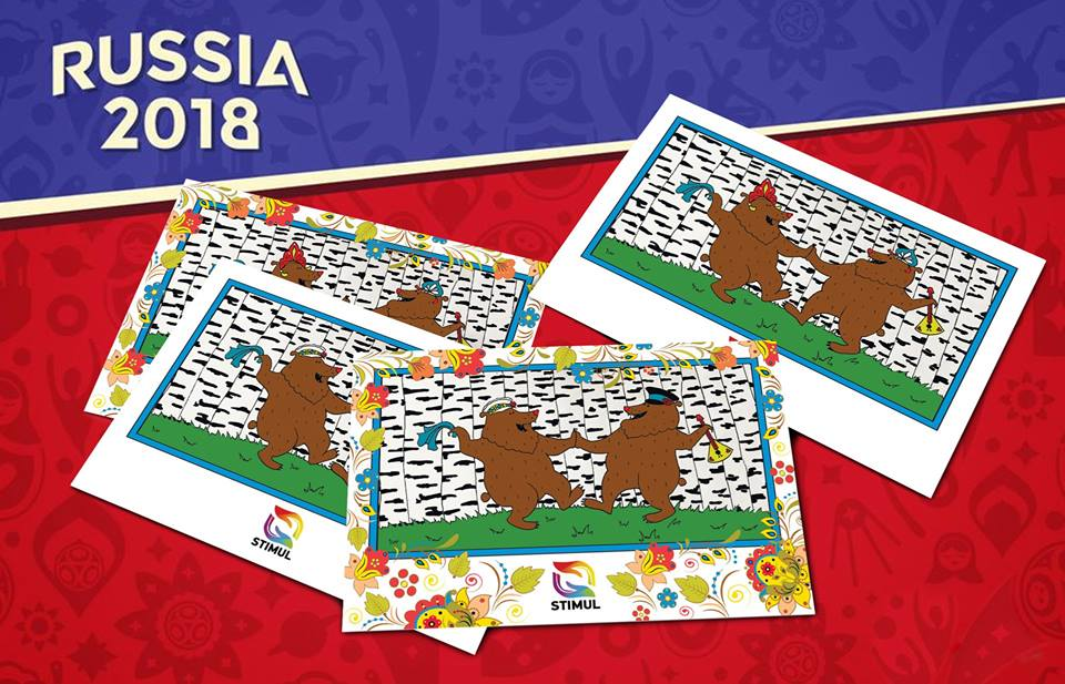 Dancing bears adorn Stimul's flyer for its World Cup hotline.