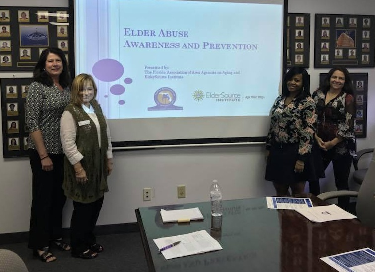 An Elder Abuse Awareness and Prevention training session in progress (Photo courtesy of ElderSource Institute)