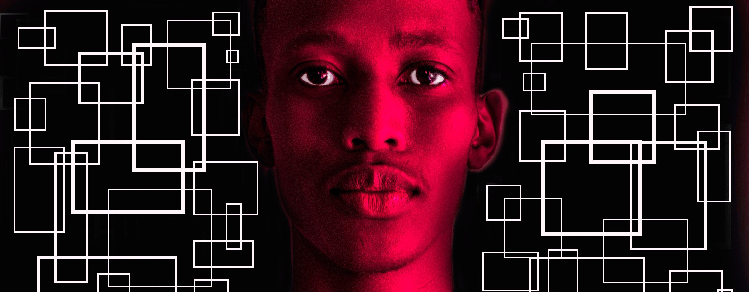 Blood, symbolizing the wounds, physical and emotional, of queer Africans, and the boxes that people, queer and straight, put themselves and others in, are the main visual motifs of Lesh Maseng's radical dance piece G.A.Y. (Photo courtesy of Endotica.org)