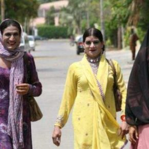 "Trans Pakistanis on the move (Photo illustrating UrduPoint's article ""All-Pakistan Transgender Election Network Launched"")"