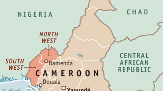 Bamenda is located in the English-speaking northwest region of Cameroon. (Map courtesy of Economist.com)