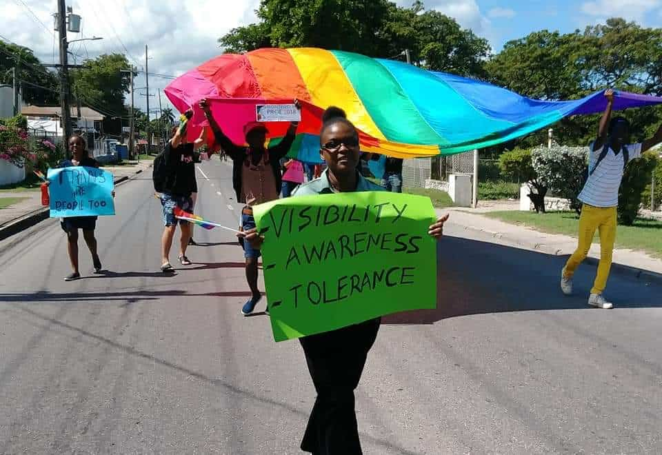 Montego Bay Pride's March for RIghts on Oct. 14 (Photo courtesy of Mckoy's News)