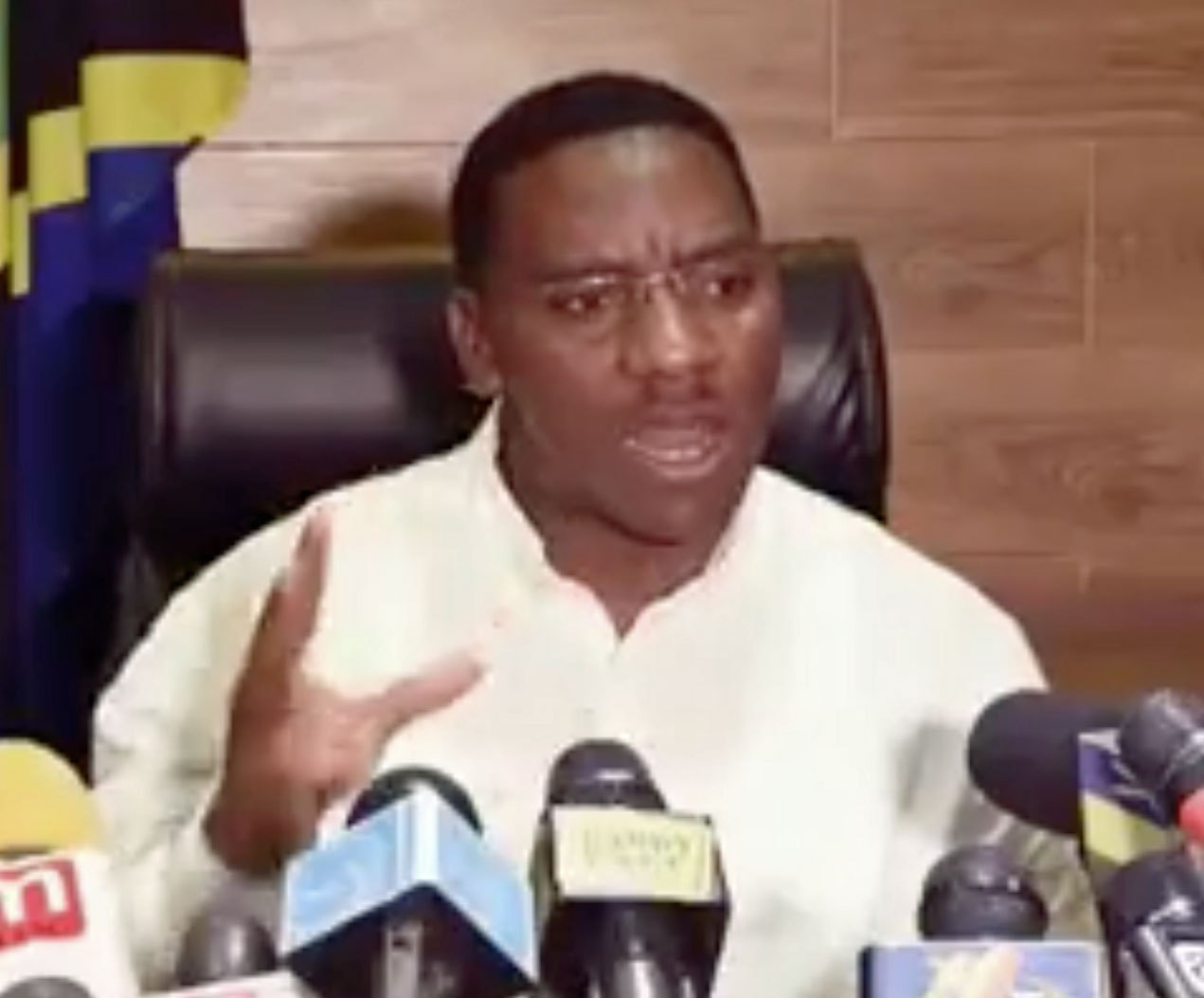 """Paul Makonda, the regional commissioner of Dar es Salaam, launched Tanzania's latest anti-gay panic by announcing plans for a gay """"round-up."""" (Photo courtesy of YouTube)"""