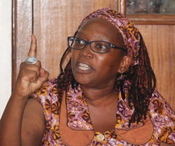 Imprisoned gay ally Stella Nyanzi, currently at Luzira Prison in Uganda.