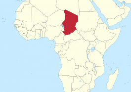 Location of Chad in African (Map courtesy of Wikimedia)