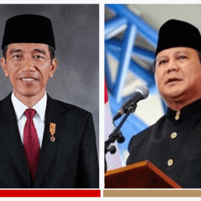 Presidential candidates Joko Widodo, the incumbent (left) and challenger Prabowo Subianto (right) (Photos courtesy of Wikipedia)
