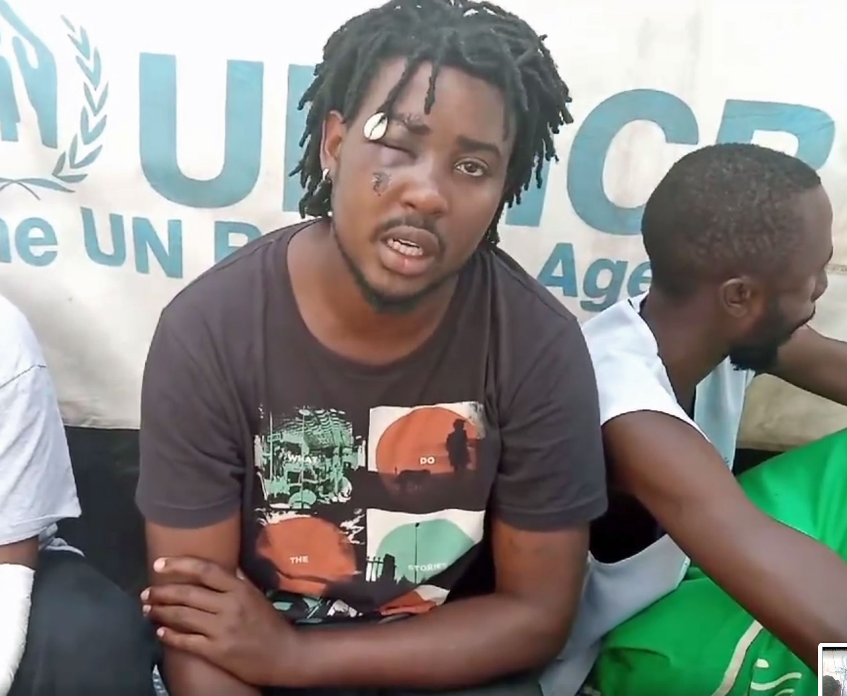 "LGBT+ refugee leader Mbazira Moses: ""I'm not leaving Kakuma when my people ... are still in the camp."" (Photo courtesy of YouTube)"