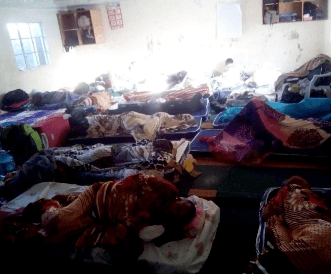 UNHCR has relocated LGBTI refugees into overcrowded rooms such as this one housing more than 15 refugees. (Photo courtesy of O-blog-dee blog)