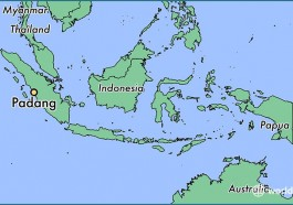 The Indonesian city of Pariaman is 50 kilometers north of Padang on the island of Sumatra. (Map courtesy of WorldAtlas.com)