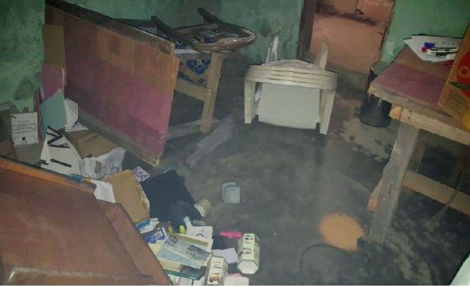 The ransacked office of Acodevo. (Photo courtesy of Acodevo)