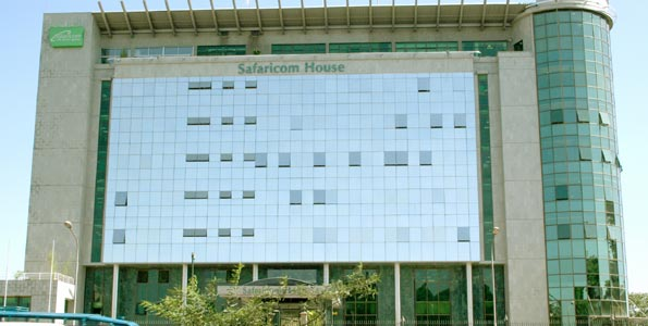 Safaricom House, the corporate headquarters of Safaricom in Nairobi.