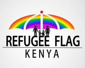 "Logo of Refugee Flag Kenya: ""we are demanding for answers to why they are still suffering in jail"""