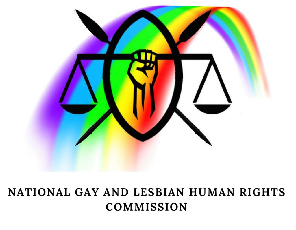 Logo of the Kenyan LGBT rights advocacy group, the National Gay and Lesbian Hurman Rights Commission.