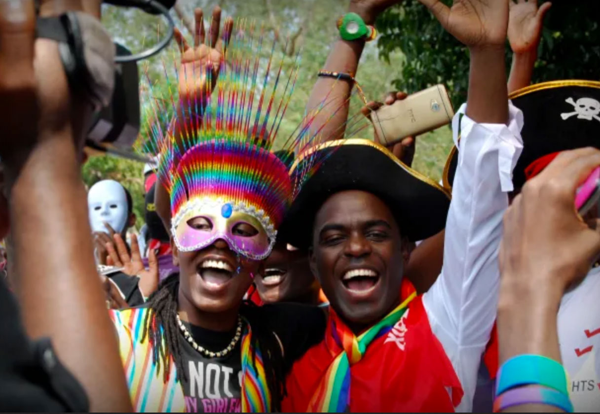 Celebrating Pride in Uganda — before the police arrived. (Photo courtesy of SMUG)