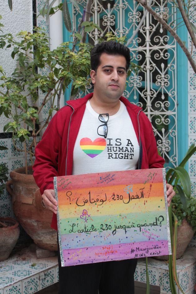 Ali Bousselmi, president of Mawjoudin (Photo courtesy of HuffPostMaghreb,com)