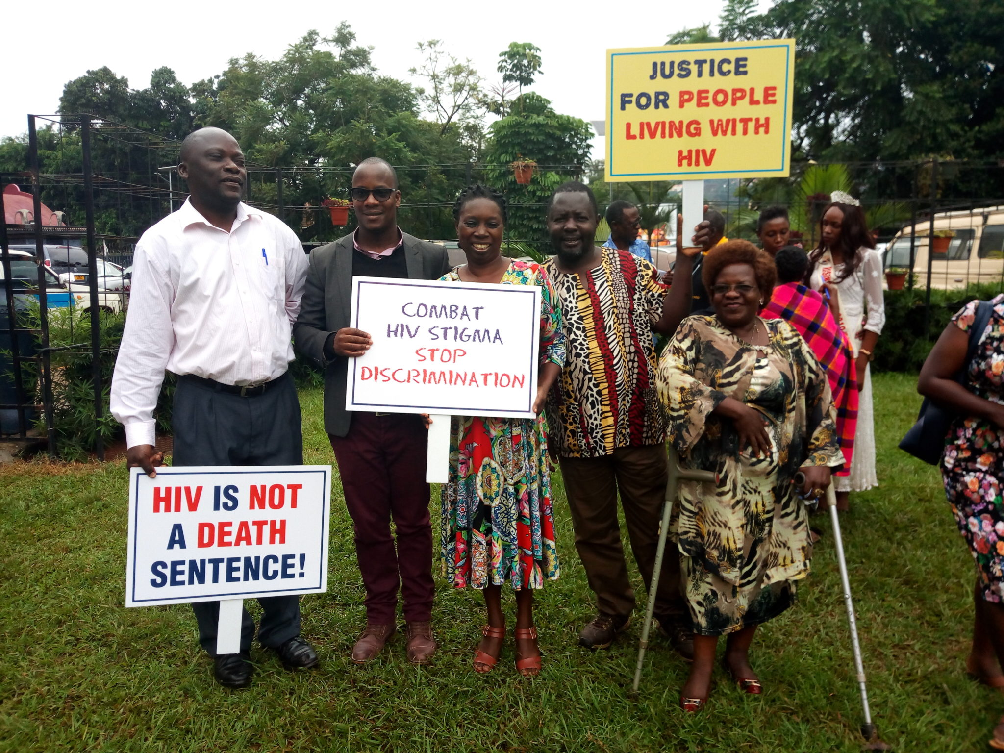 Ugandan protest for HIV+ rights