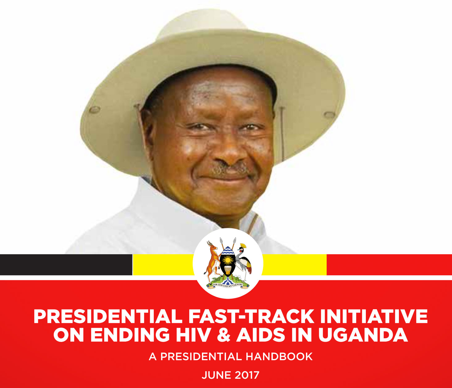 """Cover of """"Presidential Fast-Track Initiative on Ending HIV & AIDS in Uganda."""" Click on the image to read the full 20-page PDF file."""