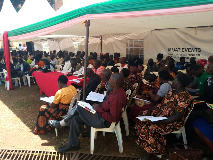 Audience listens to the launch of the People Living with HIV Stigma Index report. (UhspaUganda photo)