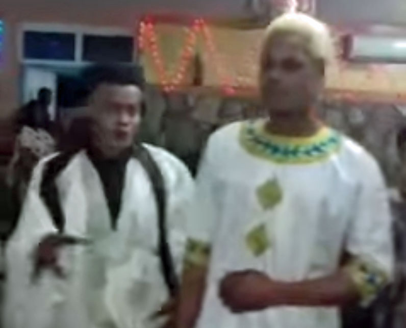 Honored couple at Jan. 11 birthday party in Mauritania. (Photo courtesy of YouTube)
