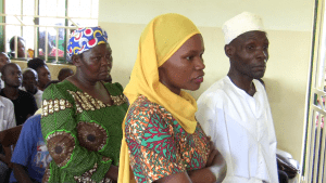 Sheikh Mutumba's relatives appearing in court today, Feb. 7, to stand surety for him. (UhspaUganda photo)