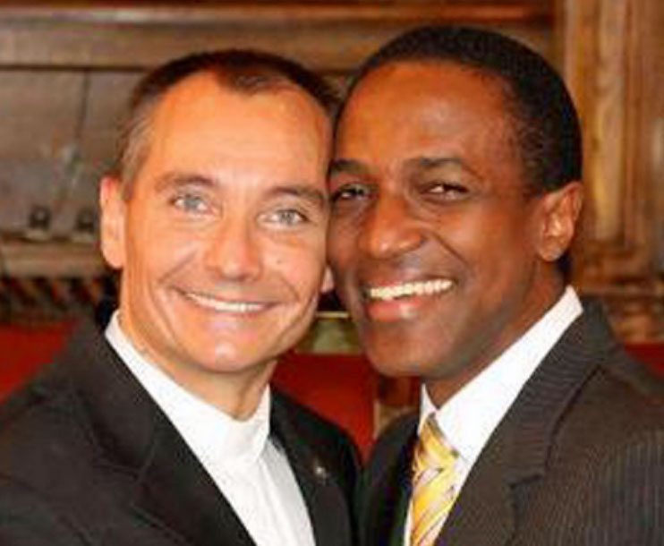 Tom Decker (left) and his husband Maurice Tomlinson