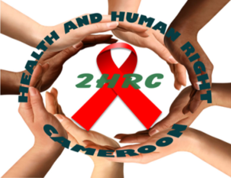 The logo of the advocacy group 2HRC (Health and Human Rights Cameroon).