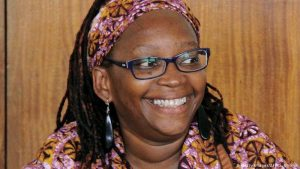 Dr Stella Nyanzi during a previous court appearance on charges of insulting President Yoweri Museveni and his family.